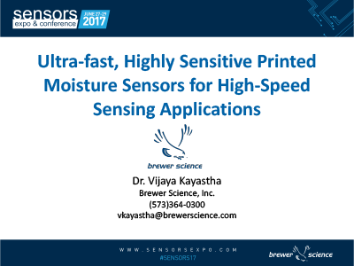 Ultrafast, Highly Sensitive Printed Moisture Sensors for High-Speed Sensing Applications Presentation